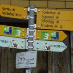 Schweizer Wanderweg Schilder Wald