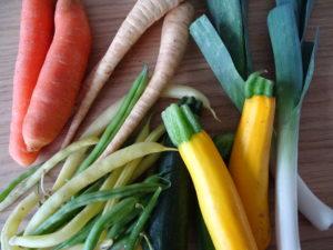 frisches Gemüse vom Wochenmarkt. Herrlich.
