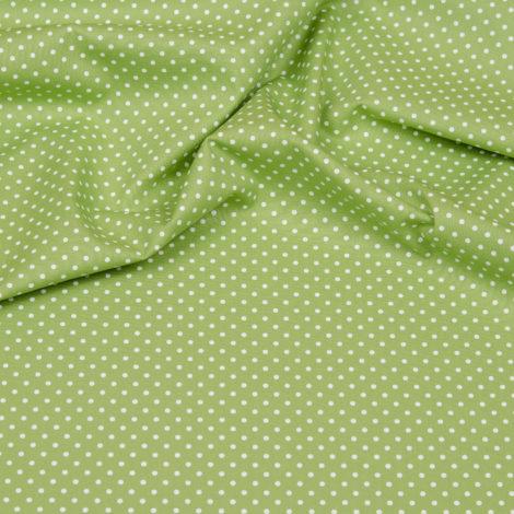 Hilde Stoff - grün mit weissen Punkten