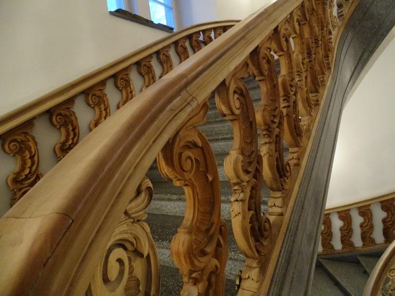 Die eindrückliche Treppe.