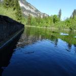 crestasee und schneeberge