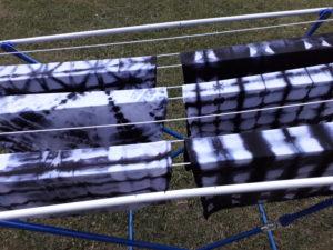 shibori servietten trocknen